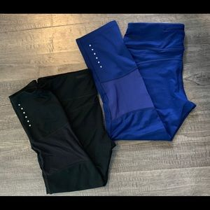 Nike Running Dri-Fit Blue/Black Leggings Size S.